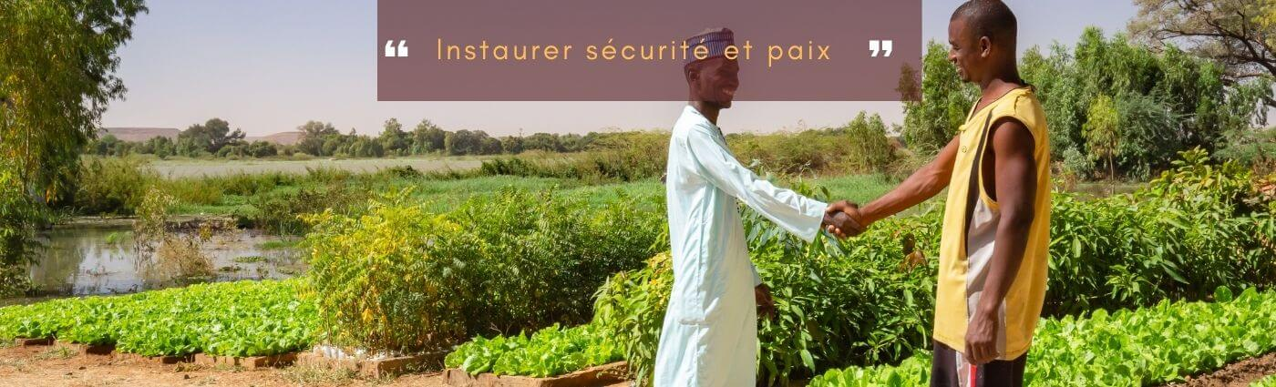 sécurité et paix